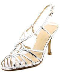 Carmen Marc Valvo - Noelle Women Open Toe Leather Sandals - Lyst