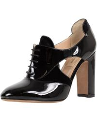 RED Valentino - Valentino Black Oxford Patent Leather Heels Shoes - Lyst