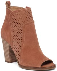 Lucky Brand - Lakmeh Perforated Leather Boot - Lyst