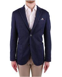 AT.P.CO - Men's Blue Polyester Blazer - Lyst