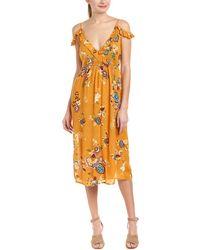 Patrons Of Peace - Ruffle Midi Dress - Lyst