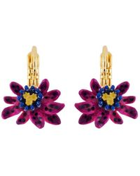 Les Nereides | Exoplanet Little Purple Passion Flower French Hook Earrings | Lyst