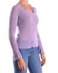 Moschino - Women's Purple Viscose Jumper - Lyst