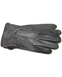 Joseph Abboud - Melange Fleece Lined Deerskin Gloves - Lyst