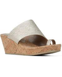 Donald J Pliner - Giles Leather Wedge Sandal - Lyst