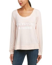 The Laundry Room - Femme Stamp Cosy Top - Lyst