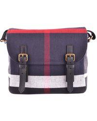Burberry - Women's Blue Fabric Briefcase - Lyst