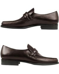 Moreschi - Monaco Brown Leather Loafers - Lyst