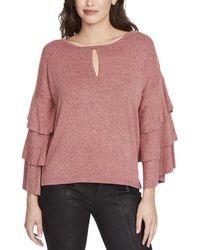 William Rast - Womens Michelle Ruffle Sleeves Lightweight Pullover Sweater - Lyst