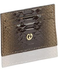Nada Sawaya - Credit Card Holder Python Nubuck Parallel Cafe - Lyst