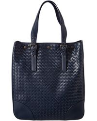 Bottega Veneta - Intrecciato Leather Aquatre Tote - Lyst