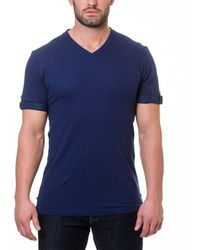 Maceoo - Short Sleeve V-neck Pique T-shirt - Lyst