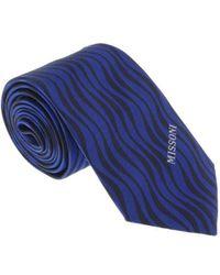 Missoni - U5569 Blue/black Animal 100% Silk Tie - Lyst