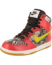 f605921d1b6 Lyst - Nike Women s Dunk Sky Hi Essential Leather Sneaker in Red