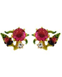 Les Nereides - Balad In Versailles Stone And Little Insect And Rhinestone Earrings - Lyst