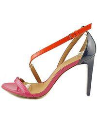 f345894e096 Lyst - Calvin Klein Narella Patent Leather Sandal in White