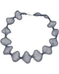 "Jewelista - 32"" Teal Mesh Necklace - Lyst"