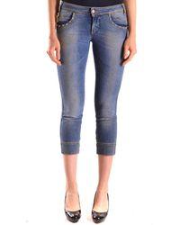 John Galliano - Women's Mcbi130063o Blue Cotton Jeans - Lyst