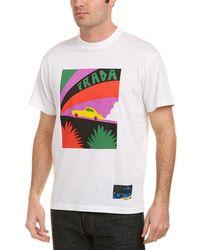 Prada - Printed Cotton-jersey T-shirt - Lyst