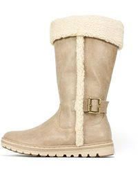 White Mountain Footwear - Womens Kesha Fabric Almond Toe Mid-calf Cold Weather... - Lyst