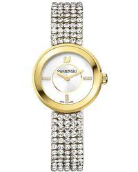 Swarovski - Crystal Plated Stainless Steel Watch - Lyst