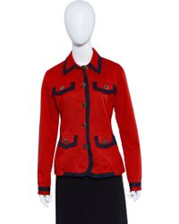 Moschino - Vintage Jeans Jacket Red Size 10 - Lyst