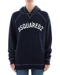 DSquared² - Women's Blue Sweatshirt - Lyst