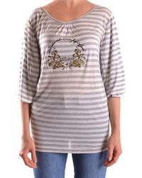 John Galliano - Women's Grey Viscose Top - Lyst