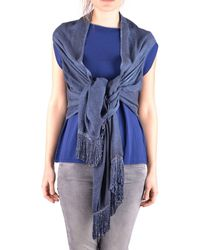 Altea - Women's Blue Viscose Scarf - Lyst