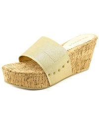 Rampage - Maizy Open Toe Canvas Wedge Sandal - Lyst