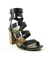 b1131be6b123 Lyst - Dolce Vita Womens Connie Black Ankle Strap Heels in Black
