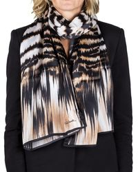 Roberto Cavalli - Women's Animal Print Silk Scarf Large - Lyst