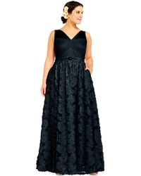 Adrianna Papell - Embellished Petal Chiffon Ball Gown - Lyst