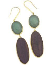 Jewelista - 18k Vermeil Aventurine Earrings - Lyst