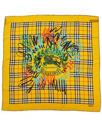 Burberry - Scribble Archive Vintage Silk Scarf - Lyst
