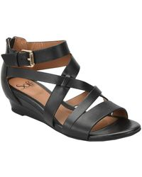Söfft - Richmond Leather Wedge Sandal - Lyst