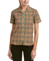 Burberry - Contrast Piping Check Pyjama Shirt - Lyst