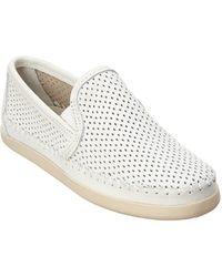 Minnetonka - Pacific Perforated Leather Slip-on - Lyst