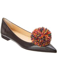 0bb31282e94 Lyst - Christian Louboutin Candidate Suede Ballerina Flat in Black