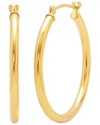 Amanda Rose Collection - 14k Yellow Gold 1 Inch Hoop Earrings - Lyst