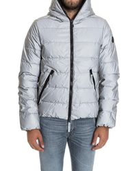 Hydrogen - Men's Silver Polyester Down Jacket - Lyst