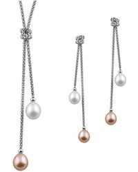 Splendid - Dangling Loveknot Pearl Set - Lyst