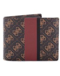 Guess - Men's Brown Leather Wallet - Lyst