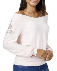 Maison Jules - Womens Knit Floral Sweatshirt - Lyst