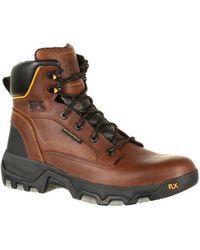 "Georgia Boot - Men's Gb00167 6"" Flxpoint Waterproof Hiker Work Boot - Lyst"