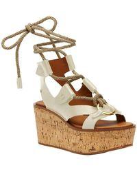 Frye - Dahlia Rope Wedge Sandal - Lyst