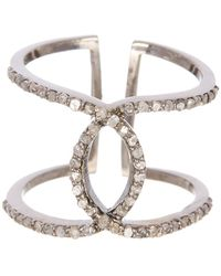 Adornia - Champagne Diamond And Sterling Silver Paris Ring - Lyst