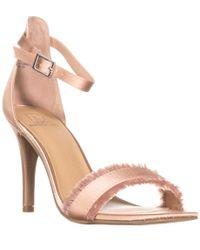 Material Girl - Mg35 Biance Open Toe Buckle Heels, Slate - Lyst