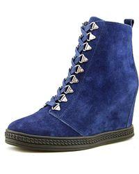 Fergie - Jillian Women Suede Blue Fashion Sneakers - Lyst