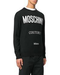 Moschino - Logo Intarsia-knit Sweater - Lyst